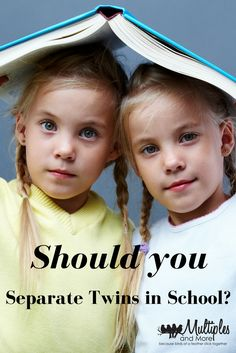 Should you separate twins at school? Twins back to school. Parenting tips. Multiples and more.