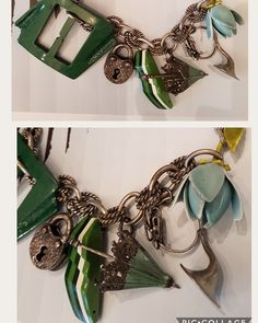 #necklace #vintagebuckles #uniquehandmade #green @du_elle_