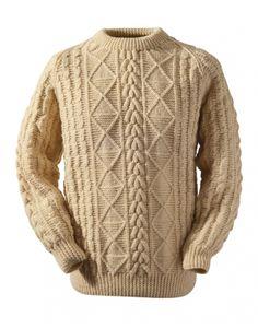 Conway pattern in aran knit