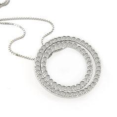 #jewelry #Fashionnews #Womensfashion #Womensstyle #Fashion #Unitedstate #USA 14K White Gold 2 Carat White Genuine Diamond