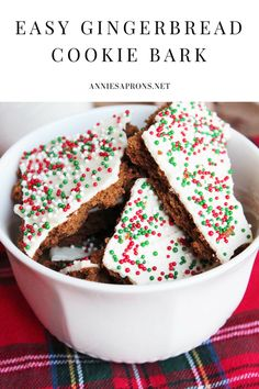 Super Easy and Delicious Gingerbread Cookie Bark