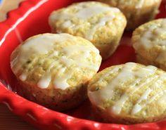 Lemon Zucchini Muffins with Lemon Glaze