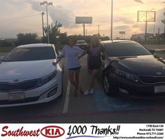 https://flic.kr/p/HrgSVL | Congratulations Jordan on your #Kia #Optima from Angela Williams at Southwest KIA Rockwall! | deliverymaxx.com/DealerReviews.aspx?DealerCode=TYEE