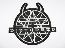 """DISTURBED Logo Iron On Sew On Embroidered Metal Band Patch 4"""""""