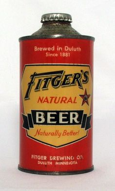Very Scarce Fitger's Natural Beer 12 oz Cone Top Beer Can 4 Alcohol Variation | eBay