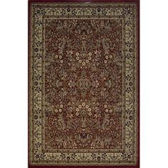 @Overstock - Red Sarouk Traditional Rug (5'3 x 7'3) - Add a traditional touch to your home decor with this stylish rug Fashionable red Sarouk rug is artfully crafted with 100-percent heat-set polypropylene Unique rug has an old world design with an updated color palette for today's homes    http://www.overstock.com/Home-Garden/Red-Sarouk-Traditional-Rug-53-x-73/3270391/product.html?CID=214117  $72.39