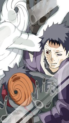 Tobi, Obito and...white thing .-. | We Heart It #obito #naruto #lockscreen