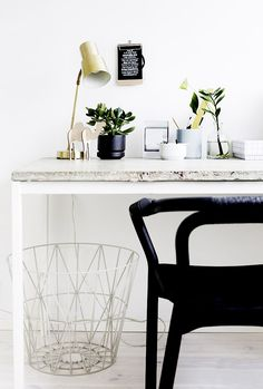 10 Tips for Creating the Ultimate At-Home Office via @MyDomaine