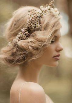 Bridal Hair  Flower Garlands Vintage Wedding Hair a53b765f419
