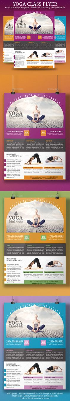 Yoga Flyer Template — Photoshop PSD #design #martial arts • Available here → https://graphicriver.net/item/yoga-flyer-template/9164628?ref=pxcr