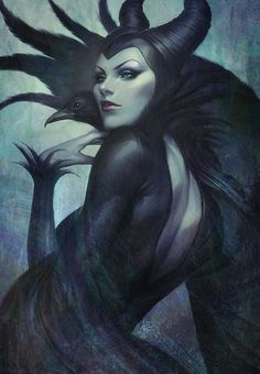 Maleficent by Artgerm | Stanley Laaffect watching the new film I really like her!!  u