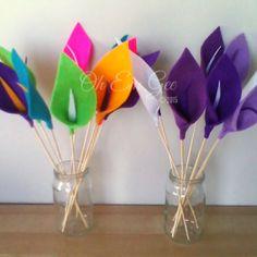 Hand made felt flowers - lillies - Made in NZ