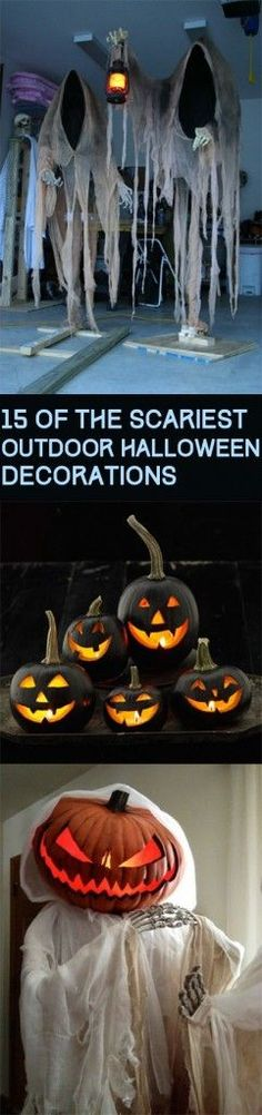 Outdoor decorations, Halloween decorations, fall holiday, DIY decorations, Halloween outdoor decorations, popular pin, decorating outdoors.
