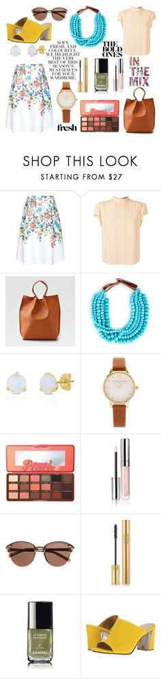 """""""Statement, Statement, BOLD Statement"""" by dfswdc on Polyvore featuring Talie NK, American Eagle Outfitters, Sole Society, Olivia Burton, Too Faced Cosmetics, By Terry, Witchery, Yves Saint Laurent, Chanel and Nine West"""
