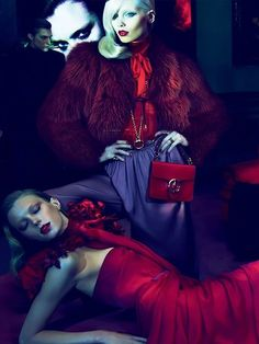 Mert Alas& Marcus Piggott,for Gucci    ----this is how I learned that red and purple go really well together! :) :)