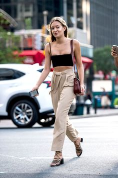 Beat The Heat With A Crop Top And Cool Khaki Pants | Le Fashion | Bloglovin'