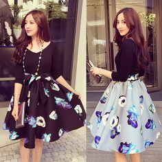 Plus Size XL-5XL Winter Party Dresses Vestidos Women Dress Print Long Sleeve Dress Vestido De Festa Fashion Casual Dress C1969 #Affiliate
