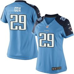 Perrish Cox Women s Elite Light Blue Jersey  Nike NFL Tennessee Titans Home   29 Nfl 79e61d04c
