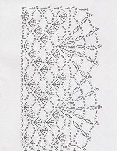 If you looking for a great border for either your crochet or knitting project, check this interesting pattern out. When you see the tutorial you will see that you will use both the knitting needle and crochet hook to work on the the wavy border. Motif Bikini Crochet, Crochet Lace Edging, Crochet Motifs, Crochet Diagram, Crochet Stitches Patterns, Crochet Chart, Thread Crochet, Crochet Trim, Love Crochet