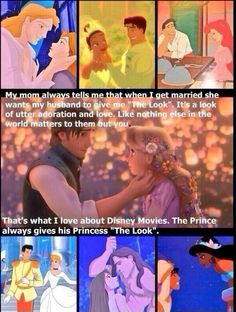 "A reason why I love Disney so much. I love it when a prince gives his princess ""The Look."""