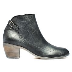 Maddy by Django and Juliette. Add some fun to your wardrobe with these metallic leather ankle boots. Wear them with fitted jeans or opaque stockings so you can show off the buckle detail at the back. Heel height of Leather upper and leather lining. Opaque Stockings, Metallic Leather, Leather Ankle Boots, Timeless Fashion, Fashion Shoes, Footwear, Booty, Autumn, Detail