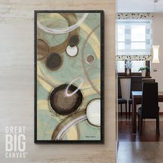 """""""Inside Blue II"""" by Michael Marcon, available at GreatBIGCanvas.com. Dining Room Art, Canvas Prints, Framed Prints, Color Theory, Wrapped Canvas, Art Decor, Abstract Art, Projects To Try, Wall Art"""