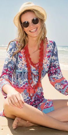 #Gottex Blush Bandana Jersey Dress Z661-561A-080