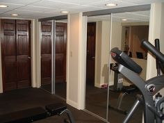 Home Design and Interior Design Gallery of Eclectic Gym With Rubber Flooring And Gym Equipment