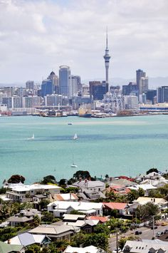 Auckland from Mt Victoria, Devonport. Auckland New Zealand, Online Art Gallery, Great Places, Worlds Largest, Places To Travel, New York Skyline, Dolores Park, Ocean, City