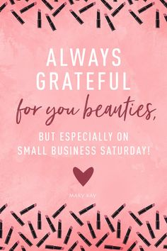A shout-out to all the boss ladies and those who support them on Small Business Saturday! | Mary Kay