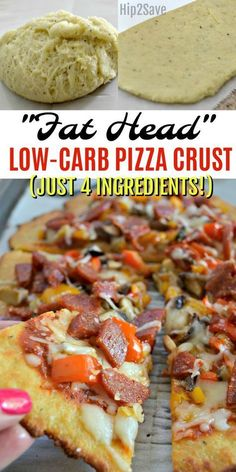 """Try """"Fat Head"""" pizza for a low carb pizza crust option that tastes amazing and is simple to make using just four main ingredients!"""