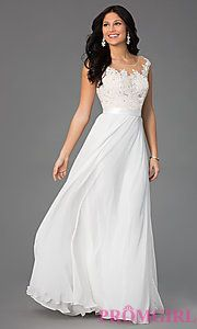 Buy Floor Length Lace Embellished Dress by Sean at PromGirl