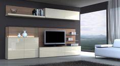 . Tv Cabinet Design, Tv Unit Design, Attic Bedrooms, Tv In Bedroom, Front Room Design, Modern Tv Wall Units, Muebles Living, Bedroom Cabinets, Home Goods Decor