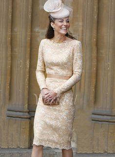 Kleider für die Brautmutter - $127.64 - Etui-Linie U-Ausschnitt Knielang Spitze Kleid für die Brautmutter (0085092694)