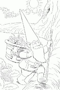 Coloring for adults - Kleuren voor volwassenen Blank Coloring Pages, Coloring Book Art, Coloring Pages For Kids, Christmas Colors, Christmas Crafts, David The Gnome, Printable Pictures, Leather Craft, Art For Kids