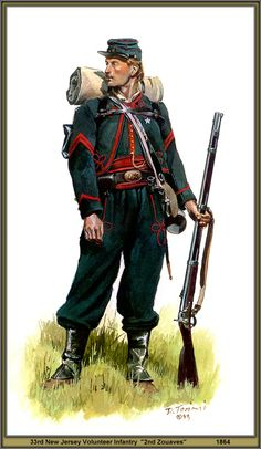 "33rd New Jersey Volunteer Infantry ""2nd Zouaves"" 1864."