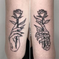 Skull Rose Tattoos, Body Art Tattoos, Sleeve Tattoos, Woman Body Tattoo, Skull Thigh Tattoos, Ankle Tattoos, Dope Tattoos, Badass Tattoos, Zombie Tattoos