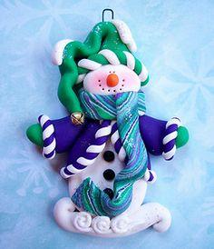 *POLYMER CLAY ~ Snowman