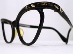 NOS Rhinestone Cat Eye Eyeglasses ... BibbysRocket