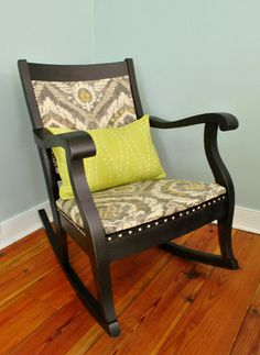 FURNITURE: Refinished Rocking Chair with nailheads and cardboard backing (Part Two)   Young House Love