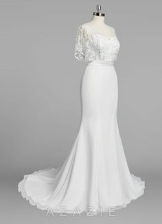 Shop Azazie Bridal Gown - Fallon BG in Chiffon. Find the perfect wedding dress for your big day. Available in regular or plus sizes 2-26W at Azazie.