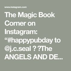 """The Magic Book Corner on Instagram: """"#happypubday to @j.c.seal 🖤 🔥The ANGELS AND DEMONS trilogy One of my all-time favourite Angel books!!!🖤 🔥Is available today on #kindle…"""""""