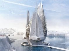 Entry into the eVolo Skyscraper Competition: A self-constructing Antarctic fortress that will combat climate change http://ift.tt/2svFfCb #organicarchitecture