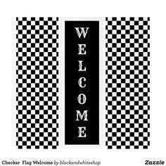 Checker  Flag Welcom