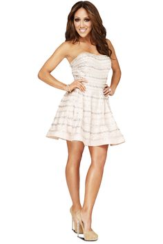 Melissa Gorga wears Terani Couture style featured on BRAVO's website! Melissa Gorga, Teresa Giudice, Terani Couture, Nude Dress, Couture Fashion, Couture Style, Real Housewives, Celebs, Celebrities