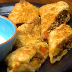 Taco Egg Rolls! Get the written recipe here:...