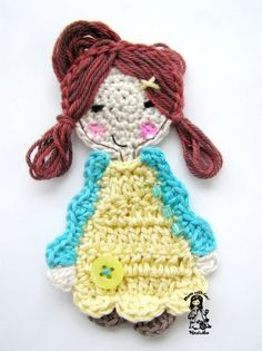 such a cute crochet girl! free pattern