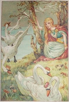 The Wild Swans -- Frank C. Papē -- Fairytale Illustration