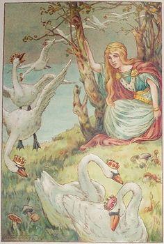 The Wild Swans -- Frank C. Papē -- Fairytale Illustration