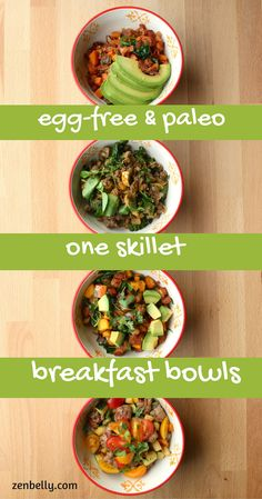 Egg-Free Paleo Breakfast Bowls - zenbelly